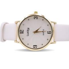 Fashion Wrist Watch Women Luxury Quartz leather Wristwatches Gentlemen Valentines Gift white,bigger size one size
