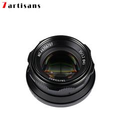35mm F1.2 Prime Lens for Sony E-mout / Fuji XF APS-C Camera Manual Mirrorless Fixed Focus Lens Black Macro 4/3