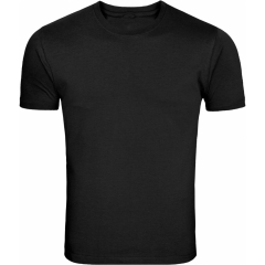 Plain round neck tshirts-black XL