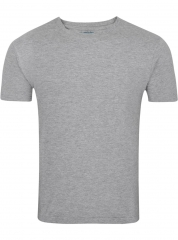 Plain round neck tshirts-gray M