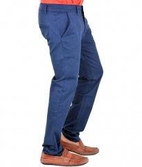 NEW CLASSIC SLIMFIT COTTON KHAKI PANTS NAVY BLUE 30