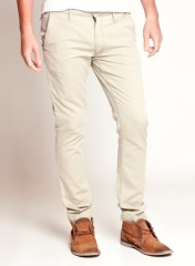 NEW CLASSIC SLIMFIT COTTON KHAKI PANTS CREAM 34