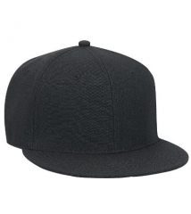 New Snapback Baseball Hat Cap Plain Basic Blank 8Color Flat Bill Visor Ball Spor BLACK ALL SIZE
