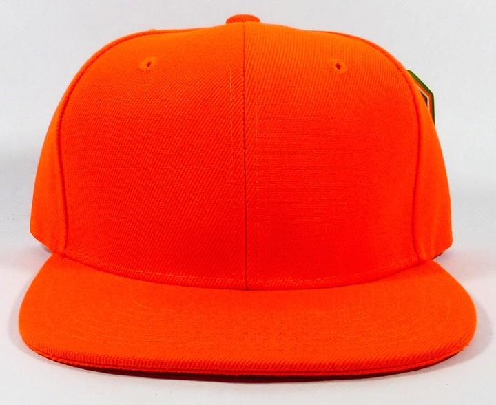 37e6438d8 New Snapback Baseball Hat Cap Plain Basic Blank 8Color Flat Bill Visor Ball  Spor GREEN ALL SIZE ORANGE ALL SIZE