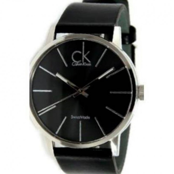CALVIN KLEIN OFFICIAL LEATHER STRAP WATCH