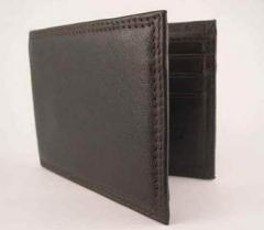 Mens Business Class Designer Leather Wallet Dark Brown