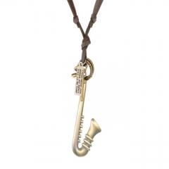 Pendant Necklace vintage Trumpet - Bronze BRONZE NORM