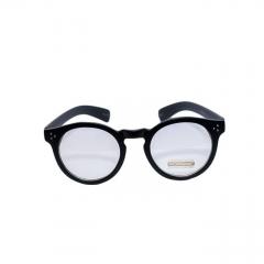 Clear Lens Fashionable Eyewear - Unisex BLACK N CLEAR uv