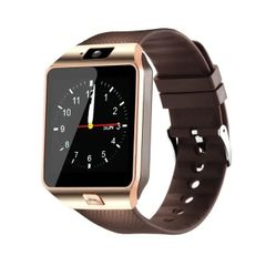 DZ09 smart watch new version with mobile camera Bluetooth micro memory card smart Watch golden one size