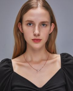 Women Necklaces Fashion Jewelry Ladies Choker Pendants  Love, red wine glass shape silvery normal