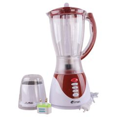 Miman 1.5L 2 in 1 Blender Premium with High Quality for Fruits and Vegetables(ZZJ001 1731) Red