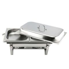 Jamespot Stainless Steel Chaffing Dish With Different Basin Style 11L Double Basin AS Picture