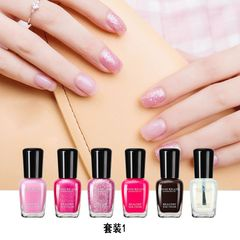 Makeup Fashionable Women's hands and feet nail Polish, hands and feet sequins, colorful colors 套装1