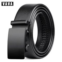 Belts Fashion Business Men's belt, Pu belt, European and American Belts Belt Belt Black square 120cm