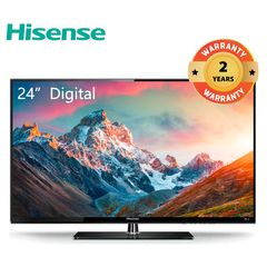 Hisense 24 inch TV Digital TV HD LED TV 24N50HTS black 24''