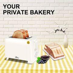 Bread Toaster Pop Up Electric Sandwich Toaster Bread Maker 2 Slice 750W White