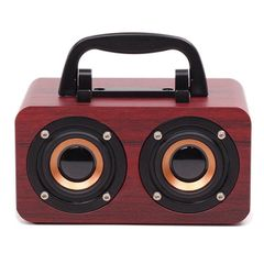Bluetooth Speaker Woofer Portable Sound Bar Wireless Stereo System Bass Subwoofer with USB FM TF Wine Red 4w mini speaker