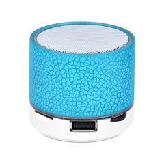 Portable Bluetooth Mini Speaker Blinking Wireless Speaker Bass Subwoofer with USB TF Card Blue 4W Mini Speaker