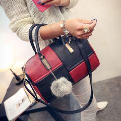 Women's Bags Handbag for Women Ladies Shoulder Bag Crossbody Bag Hairball Splicing Discount On Sale black&red middle