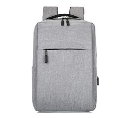 Backpack for Men Women Laptop Bag Notebook Bag Travel Bag with USB Charging Anti-Theft Leisure gray large