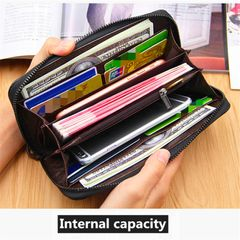 Men's Bag Wallet Purse for Men PU Leather Long Style New Fashion Discount On Sale lightcoffee onesize