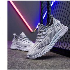 Men's Shoes Sneaker for Men Sport Shoes New Fashion Discount On Sale Grey 42