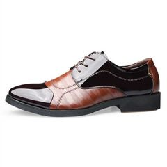 Men's Shoes Official PU Leather Shoes Business Shoes New Fashion Discount On Sale Brown 42 pu