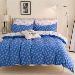 4Pcs Bedding Set (1 Duvet cover+1 Bed sheet+2 Pillow covers) As Picture 6*6