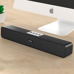 Bluetooth Speaker Woofer Portable Sound Bar Wireless Stereo System Bass Subwoofer with USB TF AUX Black as the picture