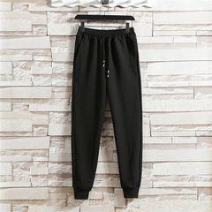 Men Pants Trousers Sport Casual Only Pants No Shirt Black XXL