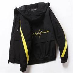 Men Jacket Thin Men Clothes Men Wear Coat Men Suit Black and Yellow XL