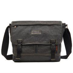 Men Bags for Men School Bags Messenger Bag Travelling Bags Laptop Bag Large Capacity Canvas Discount Black as the picture