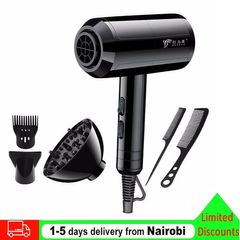 Hair Dryer 2200W Luxury 5 Pcs Set Professional Electric Hair Dryer For Salon and Household Use Anion Black normal