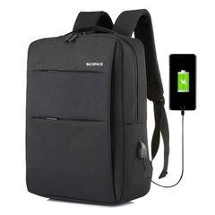 Men School Bag Backpack for Men Women USB Laptop Bag Laptop Bag Travel Bag Anti-Theft Leisure black large