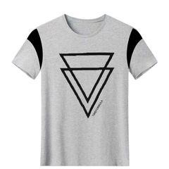 Men tshirts For Men T-shirts Polo Men Clothes Gray2 M 100%Cotton