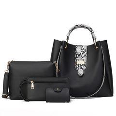 4PCS/Set Handbags for Women Bags Ladies Bags Purse Wallet Clutch white middle