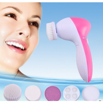 2pcs 5 in 1 Electric Wash Face Machine Facial Pore Cleaner Body Cleaning Massage Mini Skin Beauty One color One Size