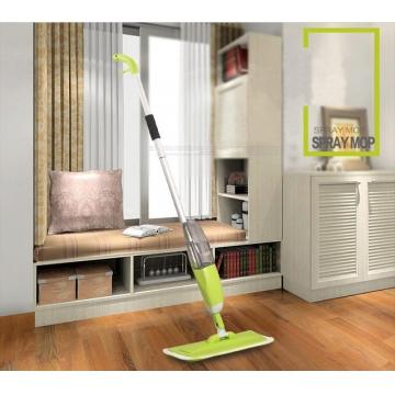 Spray water Mop Aluminium Pole Microfiber 360 degree Multifunction rotate mop Green one size