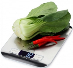 Protable Stainless Steel Electronic Kitchen Scale, High-precision slivery 20.5*16.5*3CM