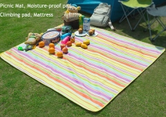 Oxford Waterproof Dampproof Picnic Mat Red stripe 145*180cm