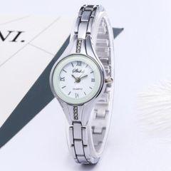 JC Korean Women Watches fashion trend design Bracelet Watch women simple Diamond Bracelet Watch silver one size