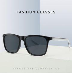 2020 JC Men Fashion Polarized Sunglasses outdoor riding high quality retro square Women sunglasses Black + Silver one size