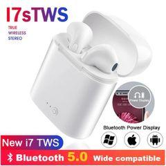JC i7s Wireless earphones Bluetooth earphones  Box Headphone Stereo For smart Phones samsung huawei white