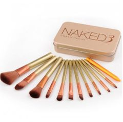 12 Pcs/Set women makeup brushes sets powder eyeshadow Lip blush Brush, makeup beauty tool sets naked3