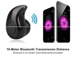 Mini Wireless Bluetooth earphone Blutooth headset Stereo headphones Earpiece Small Sports Cordless black