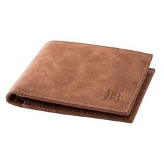 Wallets Men Simple Short Leather PU Wallet Business Casual Men women Wallet Bags men handbags brown one size