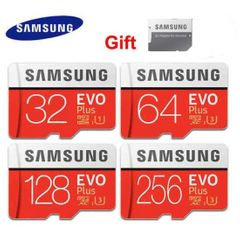 Samsung Memory Cards EVO+ 32GB 64GB phones Micro SD cards + Adapter flash disk drive red samsung 32gb micro sd