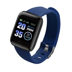 JC Smartwatch bluetooth Watches 116+ Sport Waterproof men women bracelet For Phones iPhone Samsung blue one size