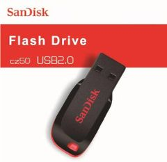 SanDisk flashdisk Cruzer USB2.0 usb flash disk hard disk 16GB 32GB 64G memory cards stick SANDISK Black with red letter SANDISK CZ50 32gb