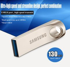 SAMSUNG USB3.0 Flash Drive 64GB 32GB Metal Stick Storage U Disk Pendrive Memory silver for phones silver Samsung 32gb